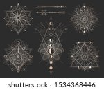 vector set of sacred geometric... | Shutterstock .eps vector #1534368446