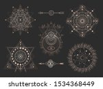 vector set of sacred geometric... | Shutterstock .eps vector #1534368449