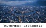 Aerial View Of Taipei City  ...