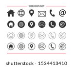 web icon set. for computer and... | Shutterstock .eps vector #1534413410