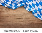 oktoberfest blue checkered... | Shutterstock . vector #153444236