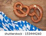 german bretzels on wooden...   Shutterstock . vector #153444260