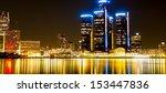 Detroit Skyline at Night