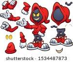 evil hooded cartoon character... | Shutterstock .eps vector #1534487873