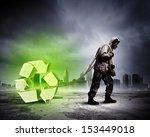 stalker against nuclear...   Shutterstock . vector #153449018