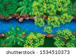 topview the river in the jugle | Shutterstock .eps vector #1534510373