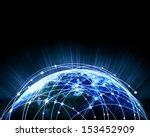blue vivid image of globe.... | Shutterstock . vector #153452909