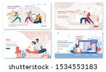 preparing to childbirth courses ... | Shutterstock .eps vector #1534553183