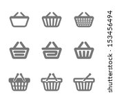 shopping basket icons. vector. | Shutterstock .eps vector #153456494