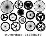 set of different wheels | Shutterstock .eps vector #153458159