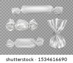 transparent candy wrappers set... | Shutterstock .eps vector #1534616690