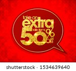 take an extra 50 off  sale... | Shutterstock . vector #1534639640