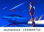 an imagery illustration of a... | Shutterstock .eps vector #1534644710