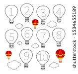 handwriting practice sheet.... | Shutterstock .eps vector #1534655189