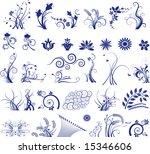 floral vector elements in...   Shutterstock .eps vector #15346606