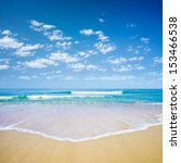 Blue Sky And Sea Or Ocean Beach