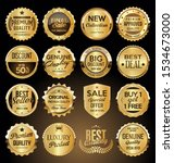 luxury premium golden badges... | Shutterstock . vector #1534673000