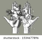 female hands holding on the... | Shutterstock .eps vector #1534677896