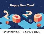 2020 happy new year. creative...   Shutterstock .eps vector #1534711823