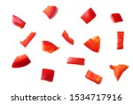 Pieces Of Red Sweet Bell Pepper ...