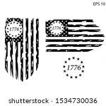 betsy ross 1776 13 stars... | Shutterstock .eps vector #1534730036