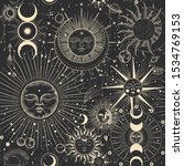 vector illustration set of moon ...   Shutterstock .eps vector #1534769153