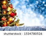 christmas background of snow... | Shutterstock . vector #1534780526