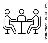 business meeting icon   vector... | Shutterstock .eps vector #1534810196