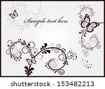 invitation card with floral... | Shutterstock .eps vector #153482213