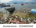 Garbage In Guanabara Bay With...