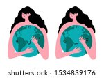 vector illustration with woman... | Shutterstock .eps vector #1534839176
