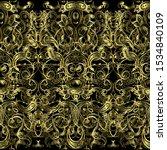 gold ornate paisley seamless... | Shutterstock .eps vector #1534840109