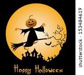 vector halloween illustration | Shutterstock .eps vector #153484619