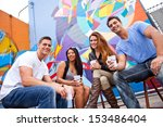 group of young people in their...   Shutterstock . vector #153486404