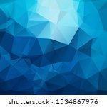 Cyan Blue Triangles Grid...