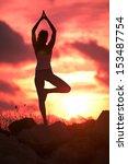 woman yoga | Shutterstock . vector #153487754
