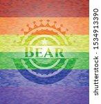 bear lgbt colors emblem. vector ... | Shutterstock .eps vector #1534913390