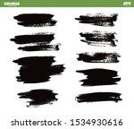 set of black vector grunge... | Shutterstock .eps vector #1534930616