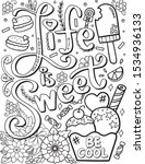 life is sweet be cool font with ... | Shutterstock .eps vector #1534936133