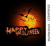 happy halloween card template... | Shutterstock .eps vector #153493910