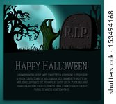 big halloween banner with... | Shutterstock .eps vector #153494168
