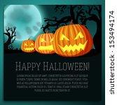 big halloween banner with... | Shutterstock .eps vector #153494174