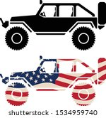 off road 4x4 vehicle with usa... | Shutterstock .eps vector #1534959740