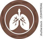 beautiful lungs vector glyph...   Shutterstock .eps vector #1534999046