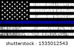 flag usa with police support... | Shutterstock .eps vector #1535012543