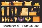 egypt burial offering jars... | Shutterstock .eps vector #1535033000