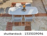 outdoor dining table on the...   Shutterstock . vector #1535039096