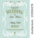 wedding invitation card design... | Shutterstock .eps vector #153504278