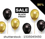 black friday sale  banner with... | Shutterstock .eps vector #1535045450