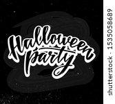 halloween party   hand written... | Shutterstock .eps vector #1535058689